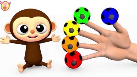 早教色彩启蒙: 小猴子想要彩色的足球