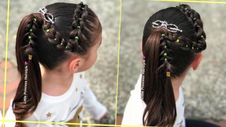 2018春节出门拜年最佳儿童公主发型干净简洁雪天玩耍美爆啦