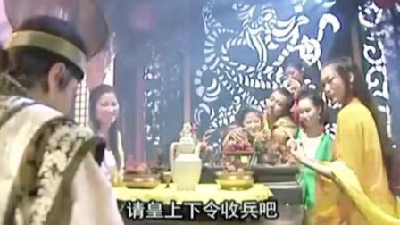 宇文成都打不过裴元庆, 最后李元霸出战, 用重锤击伤裴元庆