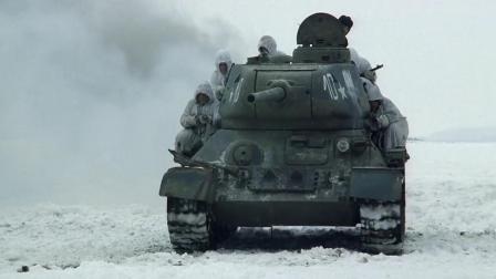 《斯大林格勒战役》德军雪地遭遇俄军坦克团,激战后伤惨重