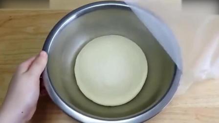 烘焙学习烘焙教学-爆浆夹心之炼奶黄油面包淡奶油打发