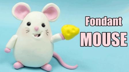 幼儿益智手工, 橡皮泥粘土手工diy可爱吃米白老鼠