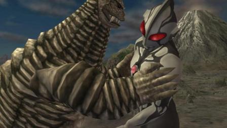 奥特曼格斗进化重生 黑暗初代大战逗比怪兽雷德王