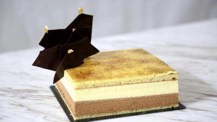 香草巧克力慕斯蛋糕: 技术失误, 其实吃得出来