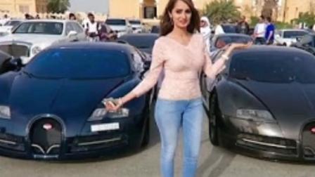 迪拜土豪小哥试驾特斯拉, 路上遇见超酷汽车