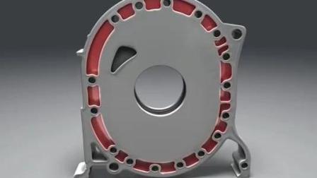 马自达转子发动机工作原理, 3D组装演示, 结构表达很清晰