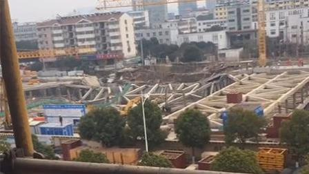 南京在建工地坍塌 周边居民被紧急疏散