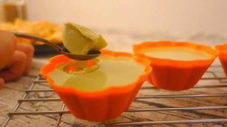 自制好吃到爆的抹茶杯子, 没有烤箱也能做的简单慕斯蛋糕