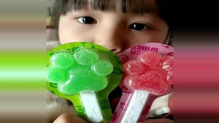 绿色的空心包子冰, 脆脆的夏天吃很不错