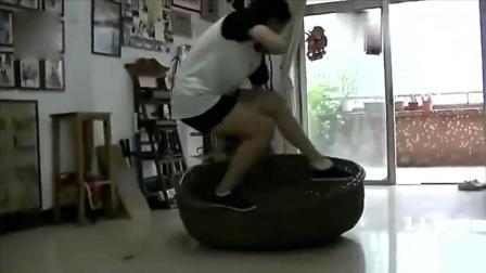 中国传统武术, 农村老人箩筐上打拳, 这是在练轻功吗?