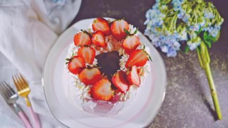 我的日常料理 第一季 草莓季烘焙食谱里一定要有的一款蛋糕 鲜奶油草莓戚风蛋糕