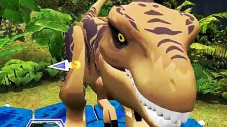 侏罗纪世界解锁霸王龙恐龙世界寻找乐高积木游戏解说