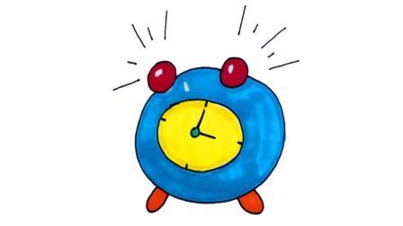 儿童简笔画 幼儿简笔画基础:可爱的小闹钟