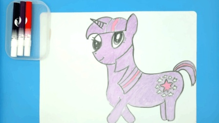 儿童学画画: 美丽的小马紫悦公主 卡通画 儿童简笔画 绘画教程