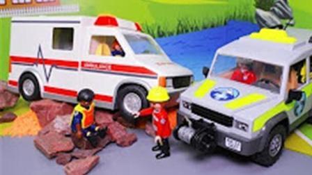 儿童挖掘机视频表演 推土机 前装机 卸车 挖土机动画片