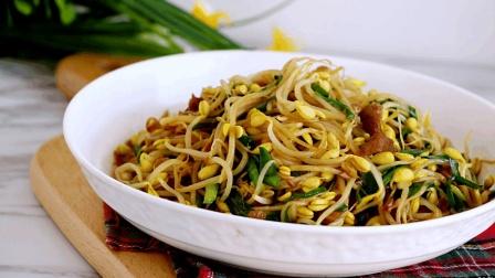 怎么炒黄豆芽简单又好吃? 原来只需加上它, 喷香入味全家抢着吃