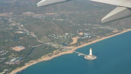 为什么去三亚的飞机都要在南海观音像上饶一圈? 说出来你都不敢相信