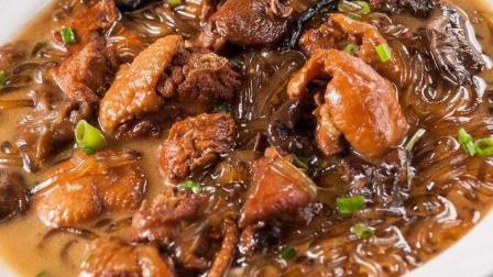 鸡肉蘑菇炖粉条, 家常做法, 营养丰富, 非常美味