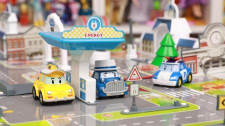 变形警车珀利布鲁姆斯小镇地图全集 变形警车珀利玩具开箱
