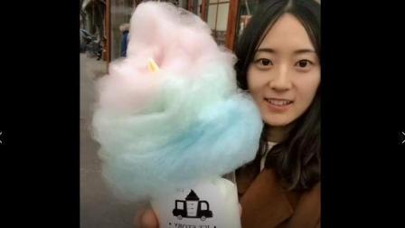 美食小吃货;韩国最火爆的彩虹冰淇淋, 其实就是冰淇淋上放点儿棉花糖