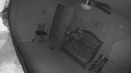 婴儿突然摔落在地 监视器画面令人震惊