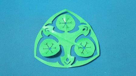 剪纸荷叶团花 剪纸视频教程大全 儿童亲子手工DIY教学 简单剪纸艺术 折纸王子 亲子游戏