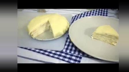 榴莲千层蛋糕 又一个美食教程视频之前有宝宝说想学做千层榴莲