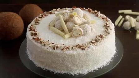 杏仁椰子蛋糕制作方法演示, 免费教程