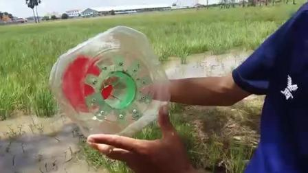 实拍: 农村小哥如何用一个大塑料瓶改装成捕鱼神器, 效果奇佳