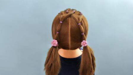 超适合小女孩的短发发型 儿童发型绑扎视频