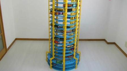 搭建托马斯小火车超高立体式轨道玩具动画视频56