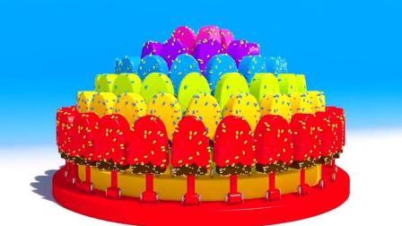 制作冰淇淋的玩具模具 做汉堡和蛋糕玩具视频92