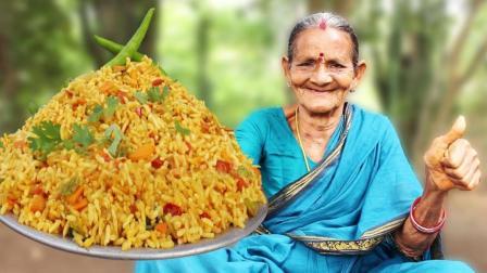 印度最有名的咖喱炒饭, 80岁老奶奶亲自传授, 出锅时我是真的服了