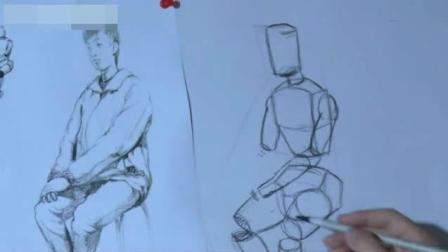创意素描图片视觉冲击 卡通人物铅笔画图片 速写树的画法