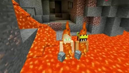 MC我的世界动画: 怎样才能像他们一样在岩浆里泡澡?