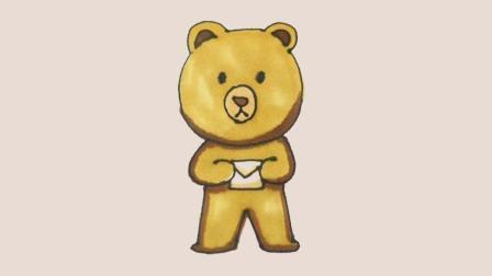 超萌简笔画小熊, 快跟木老师一起三分钟画出来