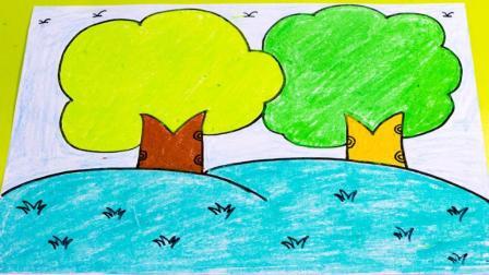 牵手幼儿园绘画教程《大树》