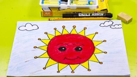 牵手幼儿园绘画教程《太阳》