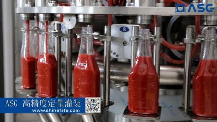 亨氏350ml高精度定量番茄酱灌装机