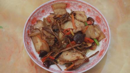 强身的鲜美家常菜, 菌菇飘香, 茶树菇炒五花肉
