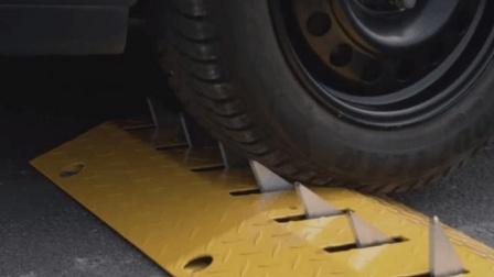 """很""""聪明""""的减速带, 专挑逆行车辆扎爆轮胎, 什么原理?"""
