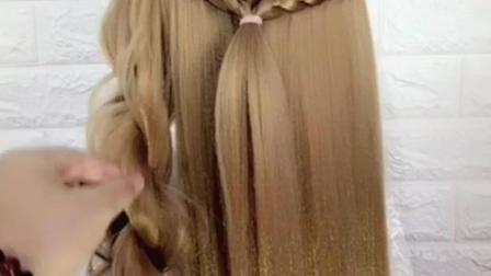 直发就是这样做成大波浪发型的, 不需要花一分钱