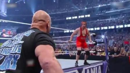 就这样子, 还敢上WWE的擂台, 你是来搞笑的吧, 对得起旁边那辆车吗