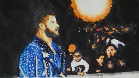 朋克画匠 新科WWE全美冠军诞生, 博比 鲁德带伤奋战荣耀加冕!