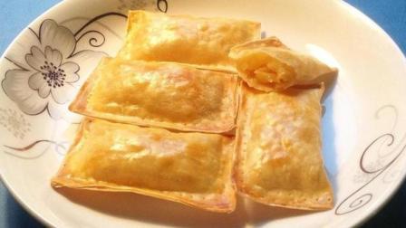 农家小灶: 馄饨片苹果派的做法, 好吃又美味!