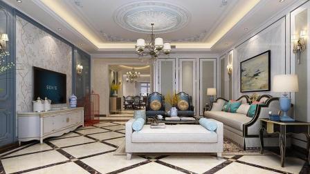 217平法式风格四居室设计, 时尚雅致, 高贵大气给人宫廷般享受!