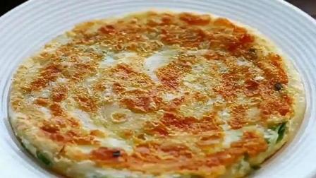 婆婆做又香又软的鸡蛋葱油饼, 只需5分钟, 连吃一个月都不腻, 每隔5天就得买一次面粉!