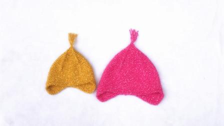 [昭尔茹悦]第63集简单的起伏针编织可爱的士兵帽毛线编织教程钩法