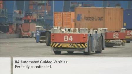 德国汉堡港口码头无线工业通讯集装箱自动运输项目案例展示