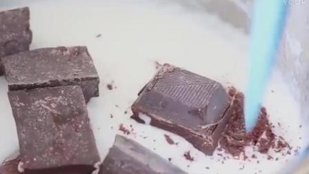 烘焙视频梦幻三色松露巧克力, 好想吃慕斯蛋糕